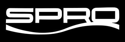 White SPRO Logo Black Background